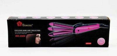 Щипцы для выравнивания, гофре, локоны, расческа с покрытиемDomotec MS-4906 Розовая