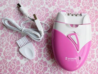 Епілятор, Shinon SH-7803, електроепілятор рожевого кольору, епілятор акумуляторний (1004501-Pink-1)