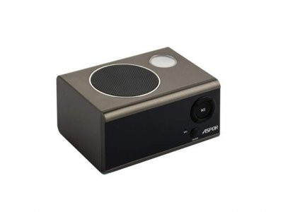 Портативна Bluetooth колонка з годинником і будильником Aspor A659