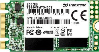 Transcend SSD MTS430S 256GB M.2 SATA III 3D NAND TLC (TS256GMTS430S)