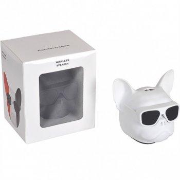 """Портативна Bluetooth колонка"""" Голова собаки"""" 597-5 (Білий)"""