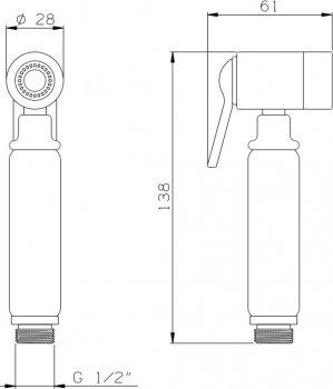 Гигиенический душ I.S.A. IDROSANITARIA Peonia 22650