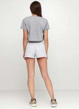 Костюм Solo Спортивный футболка с шортами Серый меланж Wm734