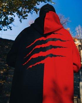 Худі Пушка Огонь Scratch чорно-червоне