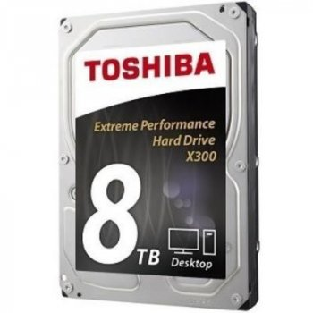 "Жорсткий диск Toshiba High-Performance X300 8TB 7200rpm 128MB HDWF180UZSVA 3.5"" SATA III"