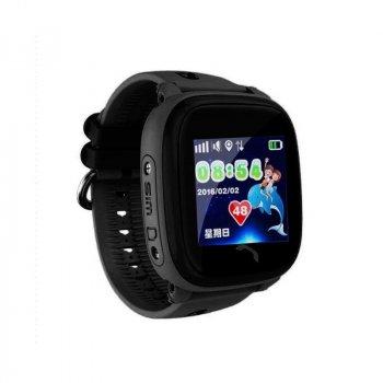 Дитячі телефон-годинник з GPS трекером Smart Watch DF25 чорні