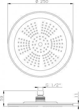 Верхний душ I.S.A. IDROSANITARIA Light 59940