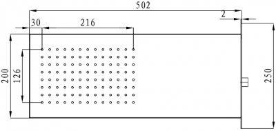 Верхний душ I.S.A. IDROSANITARIA Welly 60340
