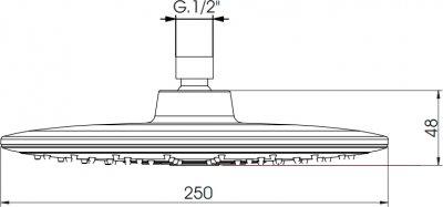 Верхний душ I.S.A. IDROSANITARIA Push 59955