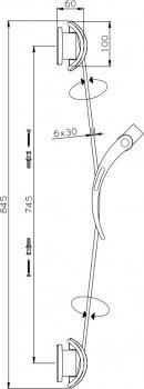 Душевая штанга I.S.A. IDROSANITARIA Flamingo 31000