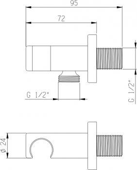 Шланговое подсоединение I.S.A. IDROSANITARIA 66150