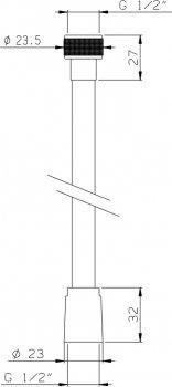 Шланг душевой I.S.A. IDROSANITARIA Metalflex 62300 150 см
