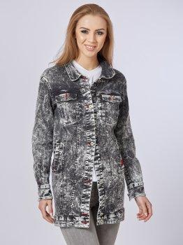 Джинсова куртка Mila Nova Q-31 Чорна