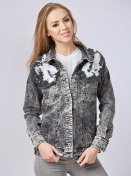 Джинсова куртка Mila Nova Q-29 Чорна