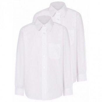 Белая рубашка George с длинным рукавом, для мальчика