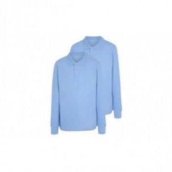 Комплект поло George с длинным рукавом для мальчика голубой цвет