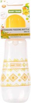Бутылочка для кормления с силиконовой соской Baby Team 0+ 300 мл (1415)