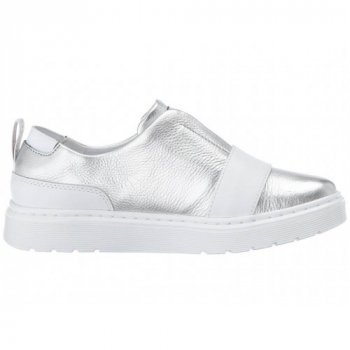 Сліпони Dr. Martens Silver Leather розмір 41 устілка 27 см срібний (SW-0169)