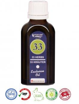 Натуральное швейцарское эфирное масло 33 травы Mint VIVASAN Original 50мл концентрат 100% GMP Sertified