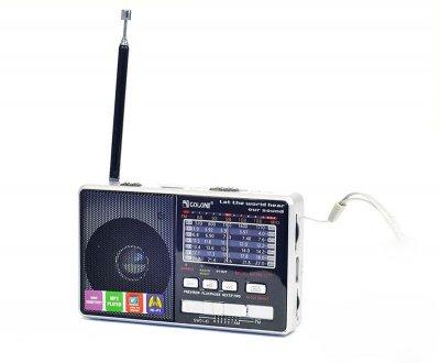Радіоприймач c USB + microsd і акумулятором, Golon RX-2277, Срібло, з MP3 плеєром від флешки (1002478-Silver-0)