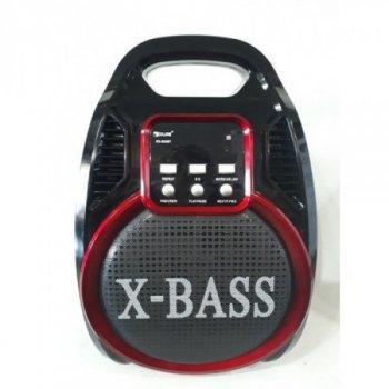 Портативна колонка з мікрофоном, Bluetooth, MP3, пульт, світломузика Golon RX