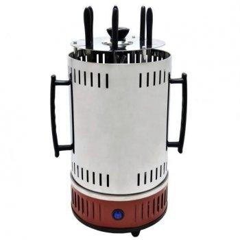 Электрошашлычница Червона Domotec Потужність 1000 Ват, 6 шампурів нержавійка, крутиться шампура, BBQ