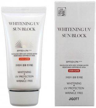 Солнцезащитный крем Jigott Whitening UV Sun Block SPF 50+/PA+++ 70 мл (8809541280986)