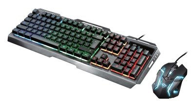 Комплект (клавіатура, миша) Trust GXT 845 Tural RU (23411) Black USB