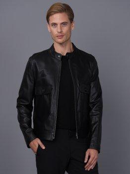 Мужская кожаная куртка BASICS & MORE Черный (BA2711852)