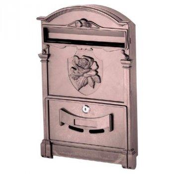 Почтовый ящик Vita роза (коричневый) (PO-0019)