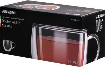 Набор чашек Ardesto с двойными стенками 300 мл 2 шт (AR2630GHN)