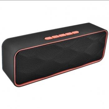 Bluetooth-колонка LUX SC-211, c функцією speakerphone, радіо, червоний