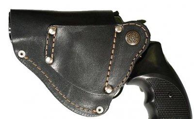 Поясна кобура для револьвера, зі скобою для прихованого носіння (008)