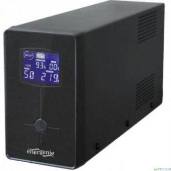 ДБЖ EnerGenie EG-UPS-034 1500VA, Line Int., AVR ,3xIEC+2xSchuko, USB, LCD, RJ11