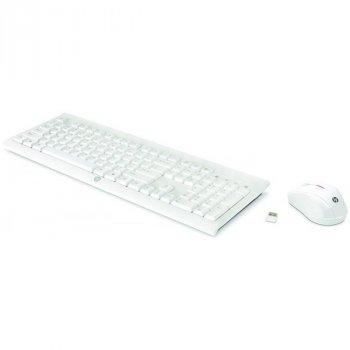 Комплект (клавіатура, миша) бездротовий HP C2710 (M7P30AA) White USB Ru