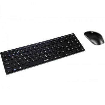 Комплект (клавіатура, миша) Rapoo 9300M Wireless Black