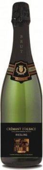 Вино игристое Domaine Viticole de Colmar Креман Д`Альзас Рислинг белое брют 0.75 л 12% (3421140200339)