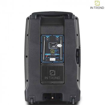 Беспроводная профессиональная блютуз колонка USB – SL 15-02 аккумуляторная с пультом дистанционного управления - Bluetooth музыкальная переносная система на колёсиках под флешку USB + TF Card + AUX для улицы и дома, Чёрная