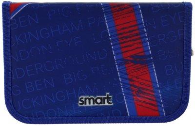 Пенал Smart London твердий одинарний без клапана 1 відділення Синій з червоним (532055)