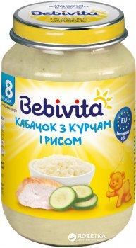 Упаковка овочево-м'ясного пюре Bebivita Кабачок з курчам і рисом з 8 місяців 220 г х 6 шт. (9007253404211)