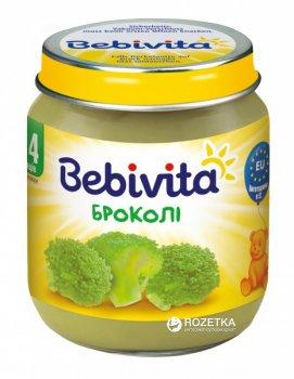 Упаковка овочевого пюре Bebivita Броколі з 4 місяців 125 г х 6 шт. (9007253404167)