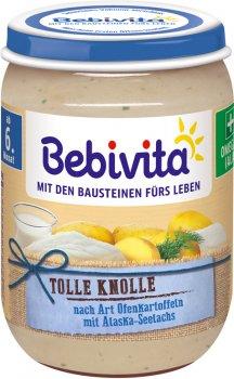 Упаковка рибно-овочевого пюре Bebivita Запечена картопля і морська риба 190 г х 6 шт. (4018852025498)