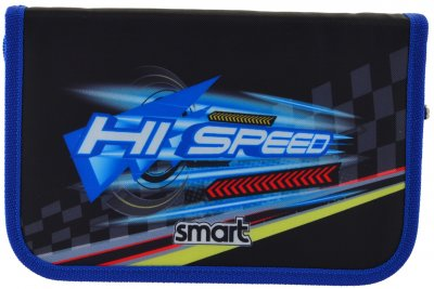 Пенал Smart Hi Speed твердий одинарний з клапаном 1 відділення Різнобарвний (532053)