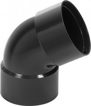 Коліно водостічної труби дворозтрубна Profil 100 Графітове (5906775638781)
