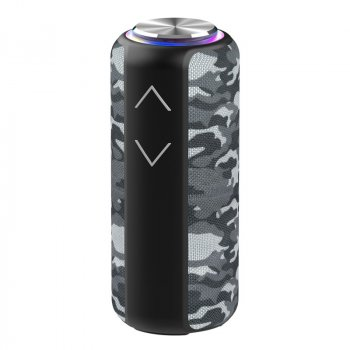 Колонка Hopestar P30 pro бездротова з вбудованим сабвуфером і мікрофоном - Портативна музична переносна блютуз акустична система з захистом від вологи і функцією TWS + AUX, Camu-grey