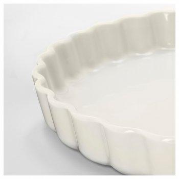 Форма для відкритого пирога білий з відтінком 32 см ікеа вардаген (102.893.07)
