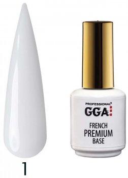 Каучуковая база GGA Professional Premium French Base 01 Белая лилия 15 мл (1213077619894)