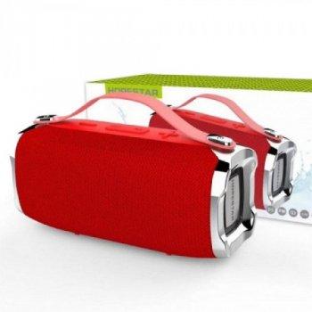 Портативна блютуз колонка Hopestar H36 Speaker Original Mini Червона 6 Вт бездротова музична акустика з радіо флешкою і Bluetooth 4.2 вологозахист (47865 I)