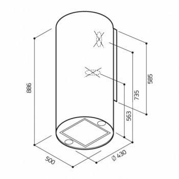Витяжка кухонна ELICA TUBE PRO IX/A/43