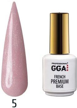 Каучукова база GGA Professional Premium French Base 05 Рожеве мерехтіння 15 мл (1213077619931)